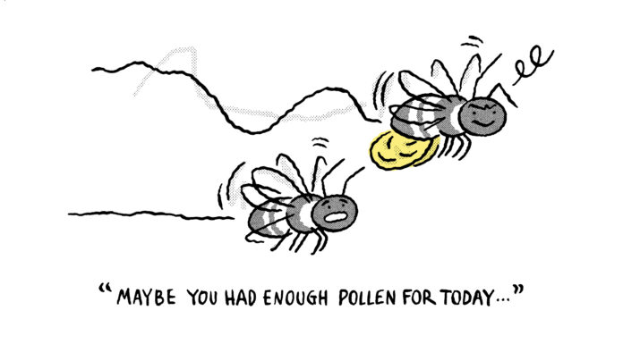 bees too much pollen
